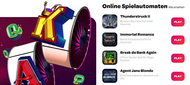 Spin Casino Spiele