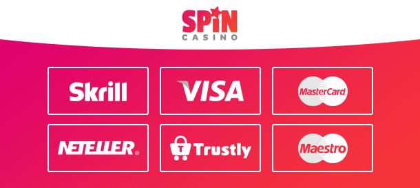 Spin Casino Zahlungsarten