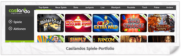 Casilando Casinospiele