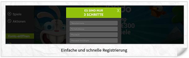 Casilando Registrierung
