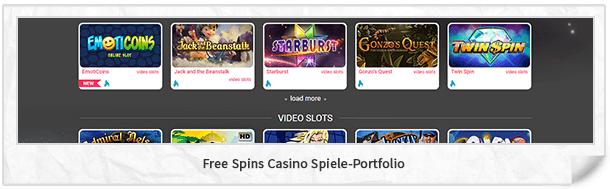 Free Spins Casino Casinospiele
