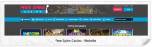 Free Spins Casino Webseite