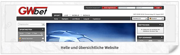 GWBet Website
