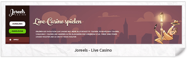 Joreels Live-Casino