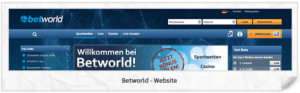 Betworld Webseite