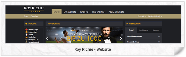 Roy Richie Webseite