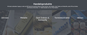 FXGiants Handelsprodukte