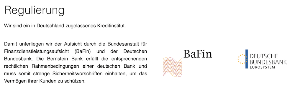Bernstein Bank Regulierung