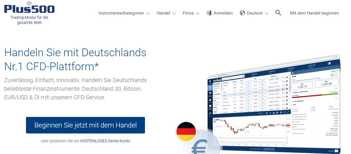 Plus500 bietet mehr als nur CFD-Aktien, auch Kryptowährungen oder Devisen-Handel werden angeboten