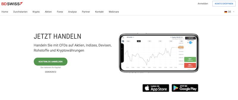 BDSwiss Kryptowährungen App