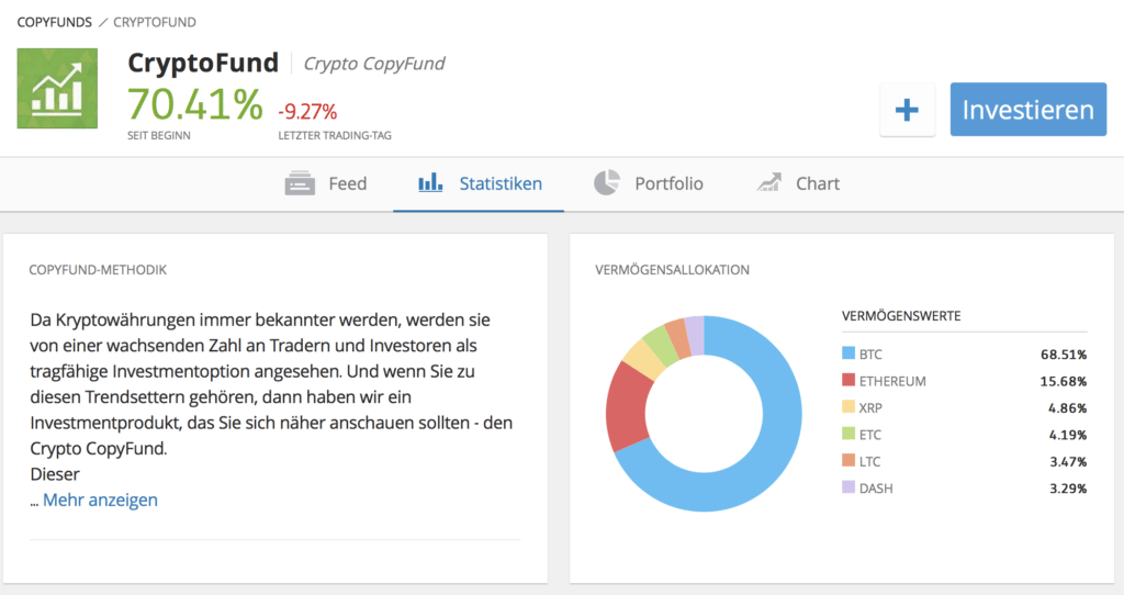 Anleger können in den eToro CryptoFund investieren