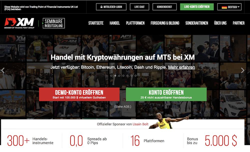 XM Webseite