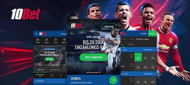 10Bet mobile Sportwetten