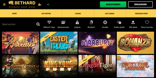 Bethard Casino Spieleangebot