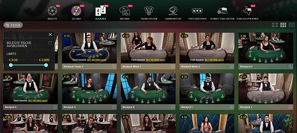 Live Casino bei Bethard