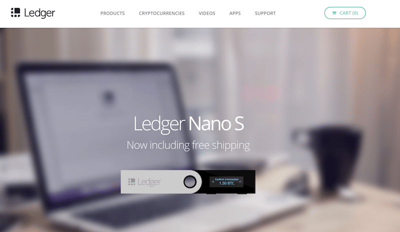 Ledger Wallet Homepage