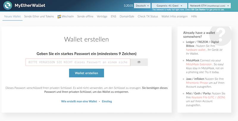 MyEtherWallet Homepage