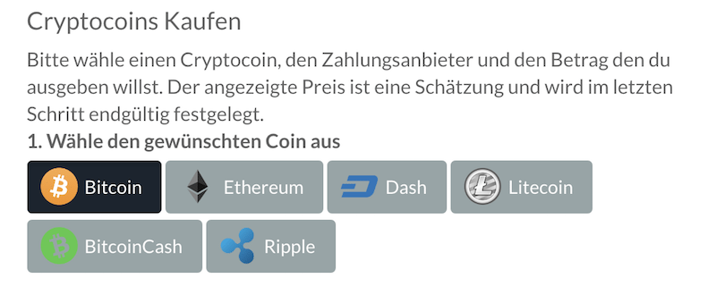 BitPanda Kryptowährungen