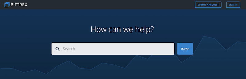 Bittrex FAQ Bereich