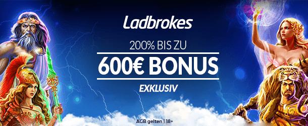 Exklusiver Ladbrokes Casino Bonus