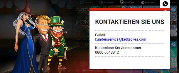 Ladbrokes Casino Kundenservice