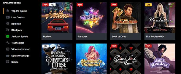 Wetten.com Casino Spiele