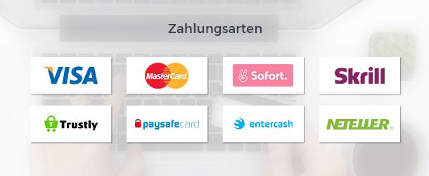 Wetten.com Casino Zahlungsanbieter