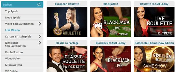Cozyno Casino Live Casino
