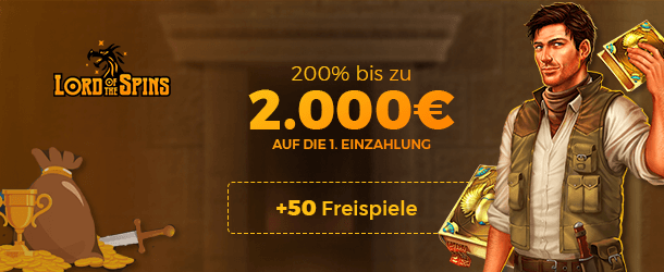 Lord Of The Spins Bonus für Neukunden