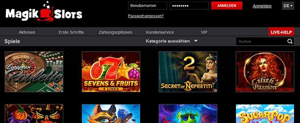 Magik Slots Casino Startseite