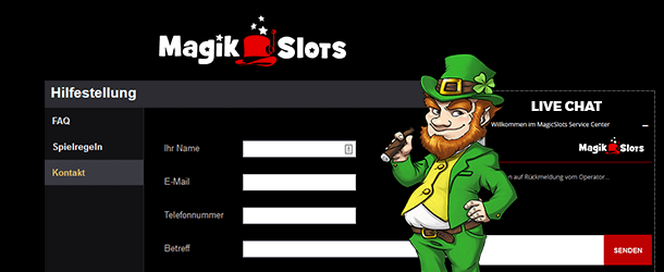 Magik Slots Casino Kundensupport