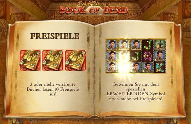 Book of Dead Freispiele 2018