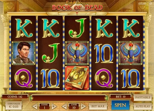 Book of Dead Slot Screenshot