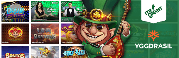 MR Green Mobile Casino Spieleauswahl