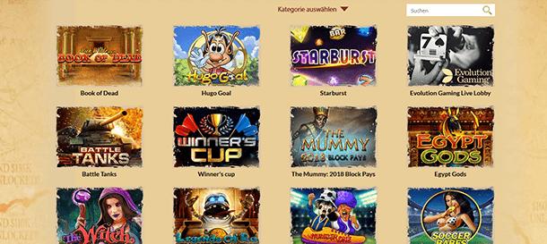 Orientxpress Casino Spiele