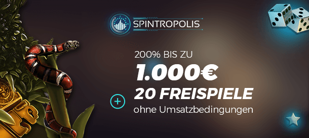 Spintropolis Casino Neukundenbonus