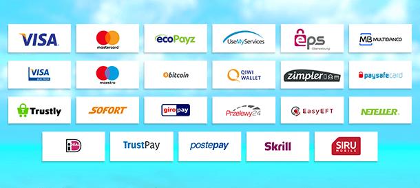 Superlines Zahlungen
