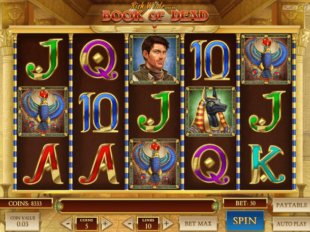 Book of dead online slot game