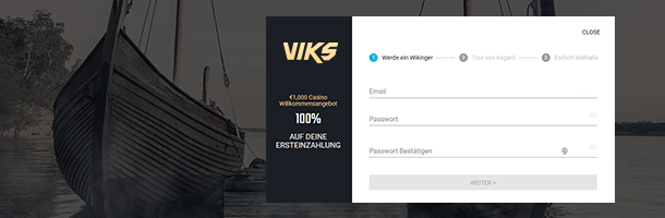 Viks.com Mobile Casino Registrierung