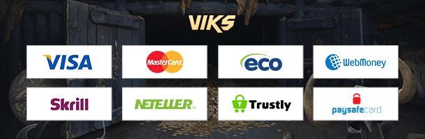 Viks.com Mobile Casino Zahlungen