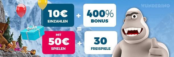 Wunderino Mobile Casino Bonus
