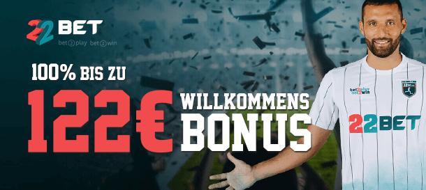 22BET Bonus für Neukunden
