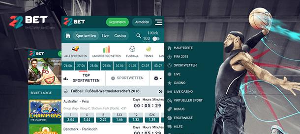 22bet Sport App