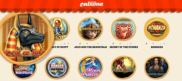 Casino Calzone Spieleauswahl