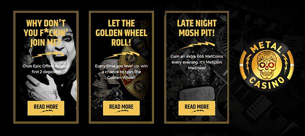 Metalcasino Promotions