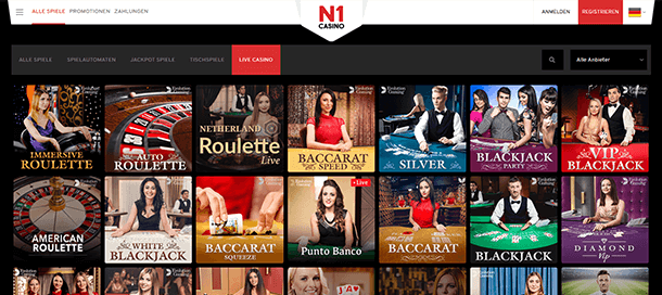 N1 Casino Live Spiele