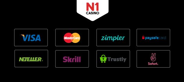 N1Casino Zahlungsmethoden
