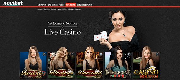 Novibet Casino Live Spiele