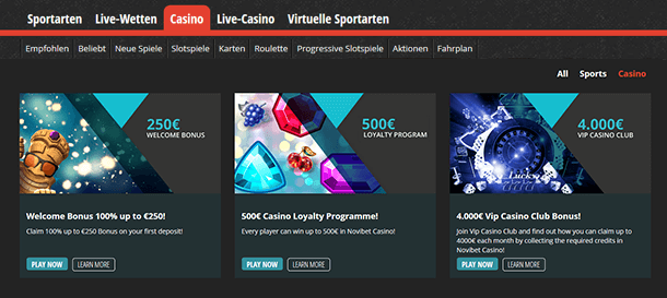 Novibet Casino Promotion