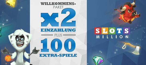 Slotsmillion Casino Willkommensbonus